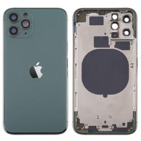 Chasis sin componentes iphone 11 pro (carcasa tapa trasera con logo + marco) Verde
