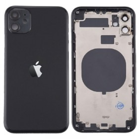 Chasis con componentes iphone 11 (carcasa tapa trasera con logo + marco) Negro