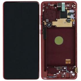 Pantalla completa original Samsung Galaxy Note 10 Lite N770 Rojo