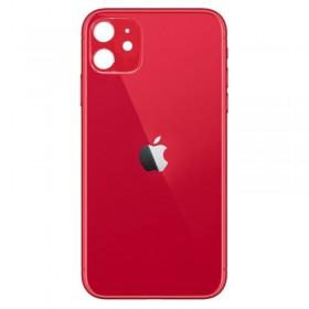 Tapa trasera cristal iPhone 11 rojo