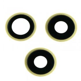 Set lentes camara trasera iphone 11 Pro Max Oro