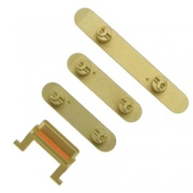 Set botones laterales iPhone 11 Pro/ Pro Max Oro