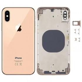 Chasis y tapa trasera sin componente para iPhone Xs Max Oro