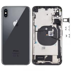 Chasis y tapa trasera con componente para iPhone Xs Max Negro