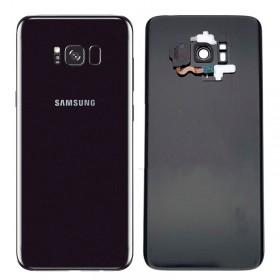 Tapa trasera original Negro Samsung Galaxy S8 Plus G955F con sensor huella y lente