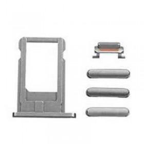 Repuesto porta sim y botones laterales iPhone 6 Plus gris oscuro