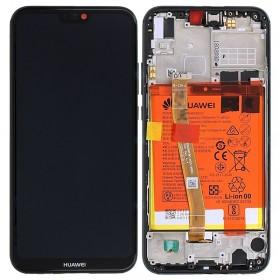 Pantalla completa original con marco Huawei P20 Lite Negro