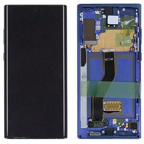 Pantalla completa original con marco Galaxy Note 10 Plus Azul