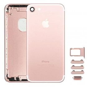 chasis iPhone 7 (tapa con logo + marco) oro rosa