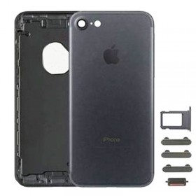 chasis iPhone 7 (tapa con logo + marco) negro mate
