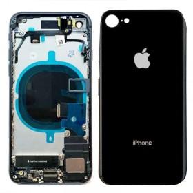 Chasis iPhone 8 completo con componentes (tapa trasera con logo + marco) Negro