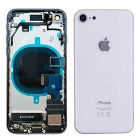 Chasis iPhone 8 completo con componentes (tapa trasera con logo + marco) Plata