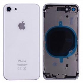 chasis iPhone 8 (tapa con logo + marco) blanco (plata)