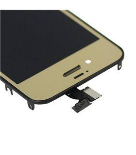 KIT RECAMBIO PANTALLA (Display) COMPLETA + TAPA TRASERA + BOTON HOME para iPhone 4S en COLOR ORO