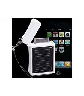 Llavero y Batería Externa Recargable para iPhone 4/4S/3GS/3G de Energía Solar. Color BLANCO