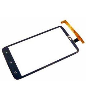 Pantalla digitalizadora, ventana táctil negra cubre display de HTC ONE X S720e