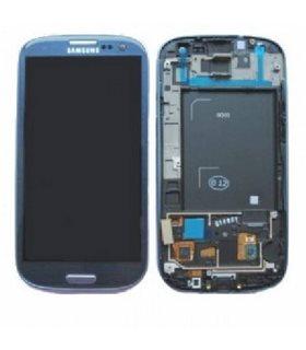 Pantalla completa + carcasa frontal Samsung Galaxy S3 i9300. AZUL ORIGINAL