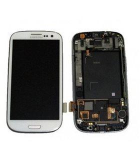 Pantalla completa + carcasa frontal samsung Galaxy S3 LTE i9305 color blanco