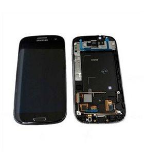Pantalla completa + carcasa frontal samsung Galaxy S3 LTE i9305. azul