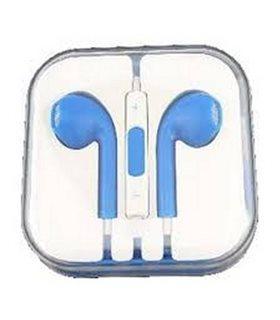 Auriculares Cascos con Micrófono y Control Volumen para iPhone, azul