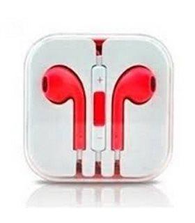 Auriculares Cascos con Micrófono y Control Volumen iPhone rojo