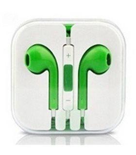 Auriculares Cascos con Micrófono y Control Volumen iPhone verde