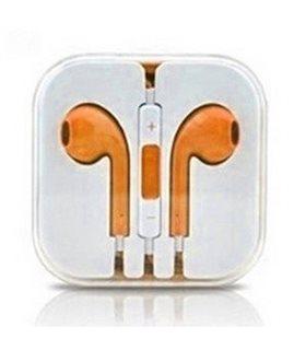 Auriculares Cascos con Micrófono y Control Volumen iPhone naranja