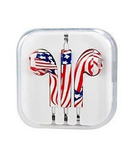 Auriculares Cascos con Micrófono y Control Volumen iPhone ESTAMPADO EE.UU