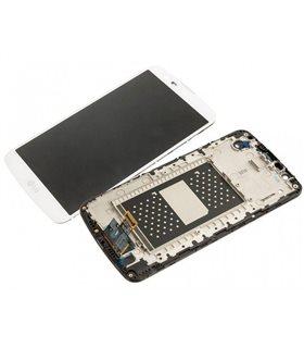 Pantalla LCD Display , Tactil Con Marco para LG K10 K420N Blanca