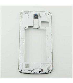 Carcasa intermedia blanca para LG K10 K420N