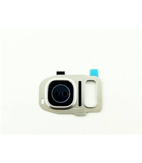 Embellecedor de Camara para Samsung Galaxy S7 Edge SM-G935F ,S7 G930F- Blanco