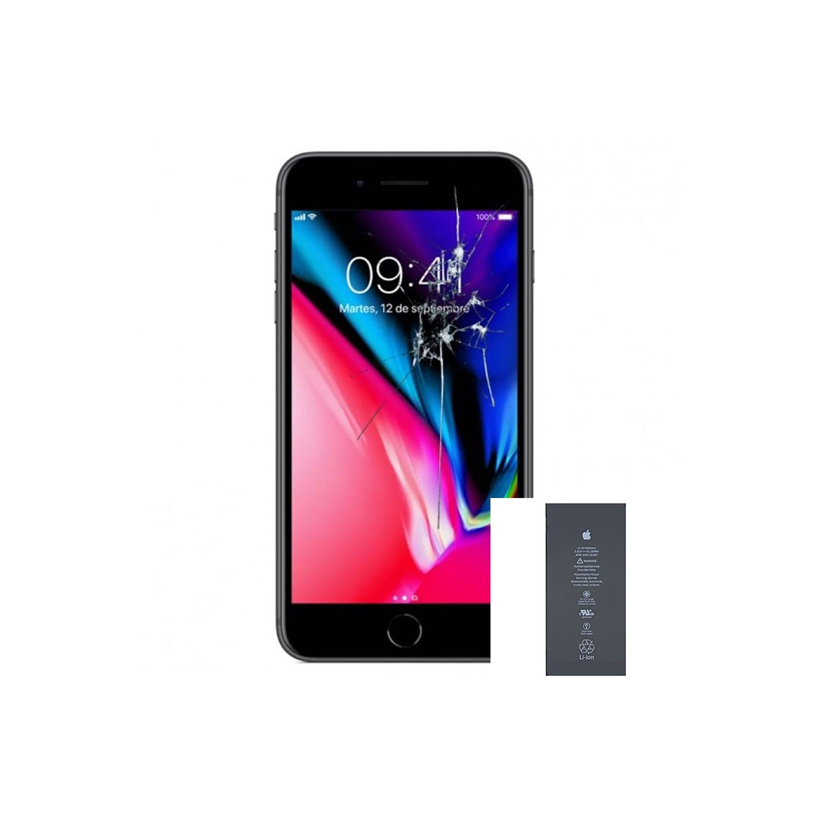 Reparacion/ cambio de Pantalla completa +bateria para iPhone 8 (A1863, A1905)