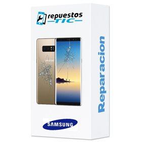Reparaçao Ecrã (cristal) + tapa traseira Samsung Galaxy Note 8 N950F