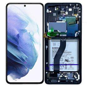 Pantalla completa original Samsung Galaxy S21 Ultra 5g G998B Negro