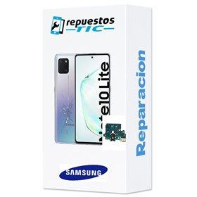 Reparacion/ cambio Modulo conector de carga y micro original Samsung Galaxy Note 10 Lite N770 Rojo