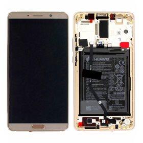 Pantalla completa original con marco + bateria Huawei Mate 10  Marron