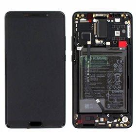 Pantalla completa original con marco + bateria Huawei Mate 10 (ALP-L09, ALP-L29) Negro
