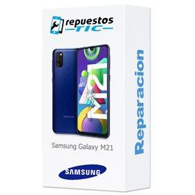 Reparacion/ cambio Pantalla completa original con marco Samsung Galaxy M21 M215F Negro