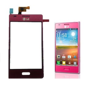 Tactil con marco LG Optimus L5 E610 Rosa