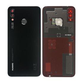 Tapa trasera con lector de huellas + lente original Huawei P20 Lite Negro