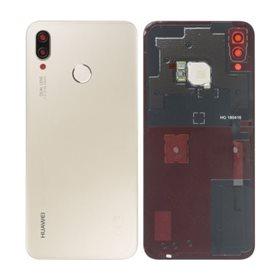 Tapa trasera con lector de huellas + lente original Huawei P20 Lite Oro