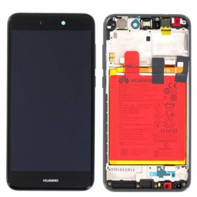 Pantalla completa original con marco + bateria Huawei Ascend P8 Lite 2017 Negro