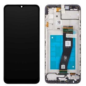 Pantalla completa original con marco Samsung Galaxy A02s A025G Negro