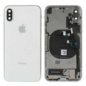 Chasis iPhone X completo con componentes (tapa trasera + marco) Blanco