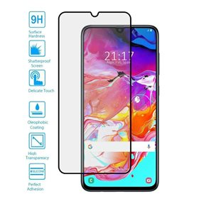 Protector pantalla cristal templado Samsung Galaxy A70 A705 Negro