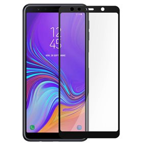 Protector pantalla cristal templado Samsung Galaxy A7 (2018) A750 Negro