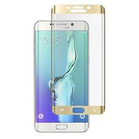 Protector pantalla cristal templado Samsung Galaxy S6 Edge Plus G928 Oro