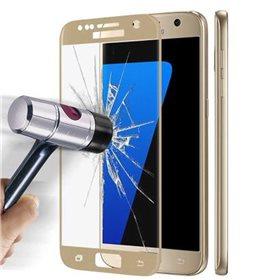 Protector pantalla cristal templado Samsung Galaxy S7 G930F Oro