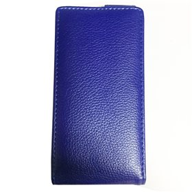 Funda protectora apertura vertical Sony Xperia S Azul oscuro