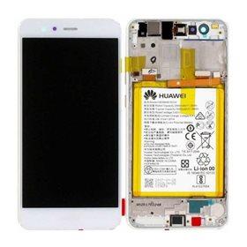Pantalla original con marco y bateria Huawei P10 Lite Blanco